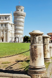 View of Leaning tower of Pisa, Italy