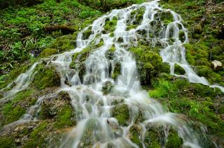 Talheimer Wasserfall am Albtrauf der Schwaebischen Alb