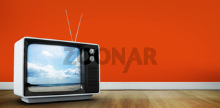 Composite image of retro television