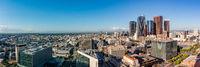 Panorama view of Los Angeles skyline