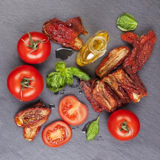 Mediterranean pomodoro background.
