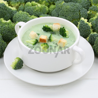 Gesunde Ernährung Brokkolisuppe Brokkoli Suppe Broccolisuppe Broccoli in Suppentasse
