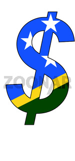 dollar - flag of salomons island