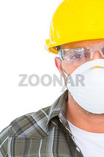 Handyman wearing protective work wear