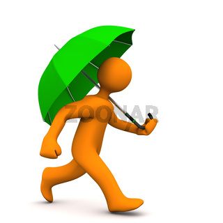 Manikin Green Umbrella