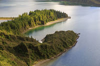 Peninsula on Lagoa do Fogo, San Miguel island