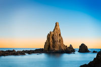 Rock in Mediterranean sea near Cabo de Gata, Spain