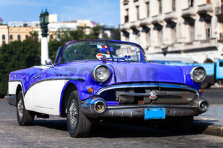 Historische amerikanische Oldtimer in Kuba Havannas