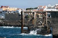 Teile der alten Schiffswerft in Garachico auf der kanarischen Insel Teneriffa