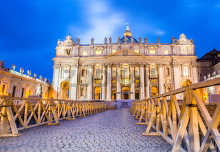 Saint Peter cathedral in Rome Italy