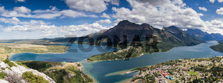 Panorama of the waterton valley