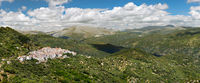 Panoramic view of White Village (Pueblos Blancos), Malaga, Andalusia