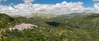Panoramic view of White Village (Pueblos Blancos), Malaga, Andalusia