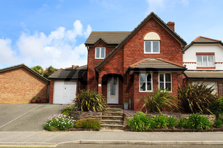 Redbrick english house with garage