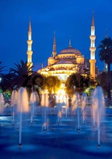 Die berühmte Blaue Moschee in Istanbul, Türkei