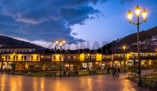 Plaza de Armas in historic center of Cusco, Peru