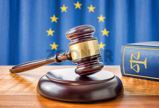 A gavel and a law book - European union