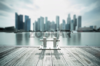Backlit city skyline