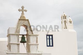 Church with Bell in Mykonos  Greece