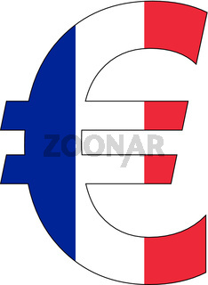 euro with flag of france