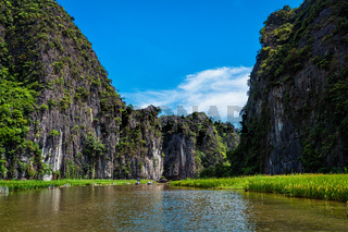 Tam Coc tourist destination in Vietnam