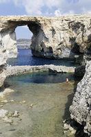 Azur Windwow und Blue Hole, Gozo, Malta