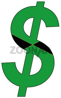 dollar - flag of jamaica