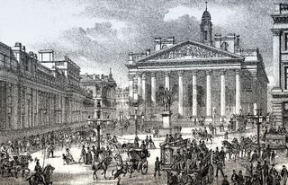 The Royal Exchange and the Bank of England, London