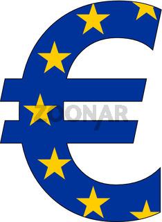 Euro mit der Flagge Europas