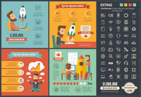 Startup flat design Infographic Template