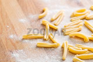 uncooked pasta casarecce