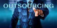 Manager Touching OUTSOURCING Onscreen