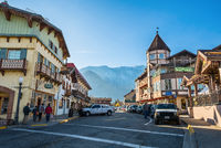 Leavenworth Bavarian themed town in Washington State.