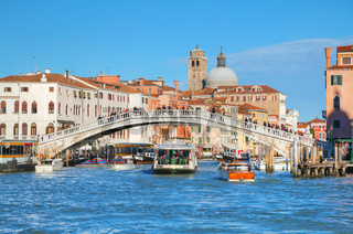 Overview of Grand Canal in Venice, Italy