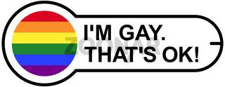 GAY OK Aufkleber