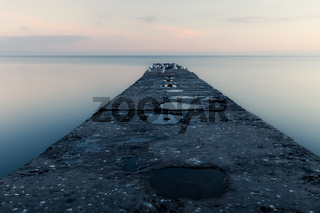 Old stone pier