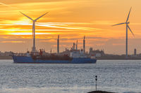 Schiff auf dem Dollart, Ostfriesland