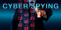 Competitor pressing CYBER SPYING Onscreen