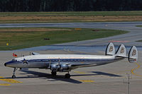 Super Constellation von Breitling am Flughafen Nürnberg.