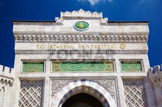 Main entrance gate of Istanbul University on Beyazıt Square, Istanbul