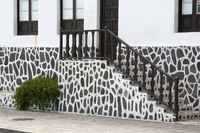 Hauseingang im kanarischen Stil auf der Insel Teneriffa