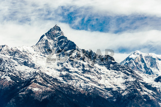 The Machhapuchhre (Fish Tail) in Nepal