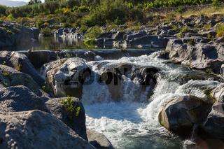 Wasserfall Alcantara nah