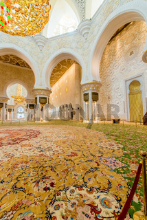 Abu Dabi - JANUARY 9, 2015: Sheikh Zayed mosque on January 9 in