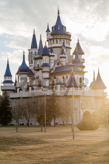 Fairytale Castle with Lens Flare in Public Cultural Park, Eskisehir