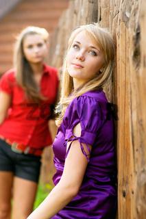 Two beautiful girl-friends