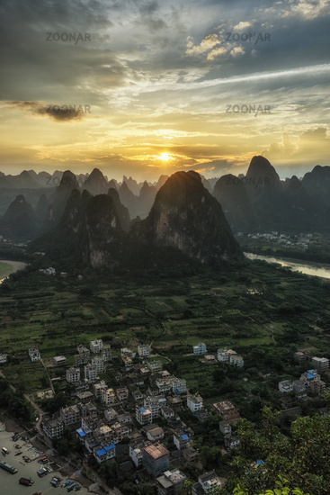 Laozhai mountain viewpoint