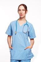 Krankenschwester mit Stethoskop