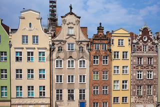 Historic Tenement Houses in Gdansk