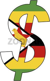 dollar - flag of zimbabwe